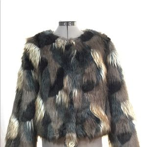 Romeo&Juliet couture faux fur coat